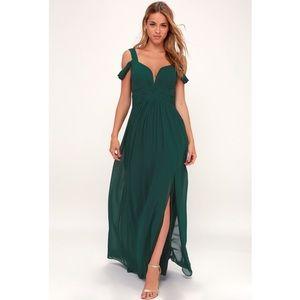 Lulus Ocean of Elegance Green Maxi Dress S NWT
